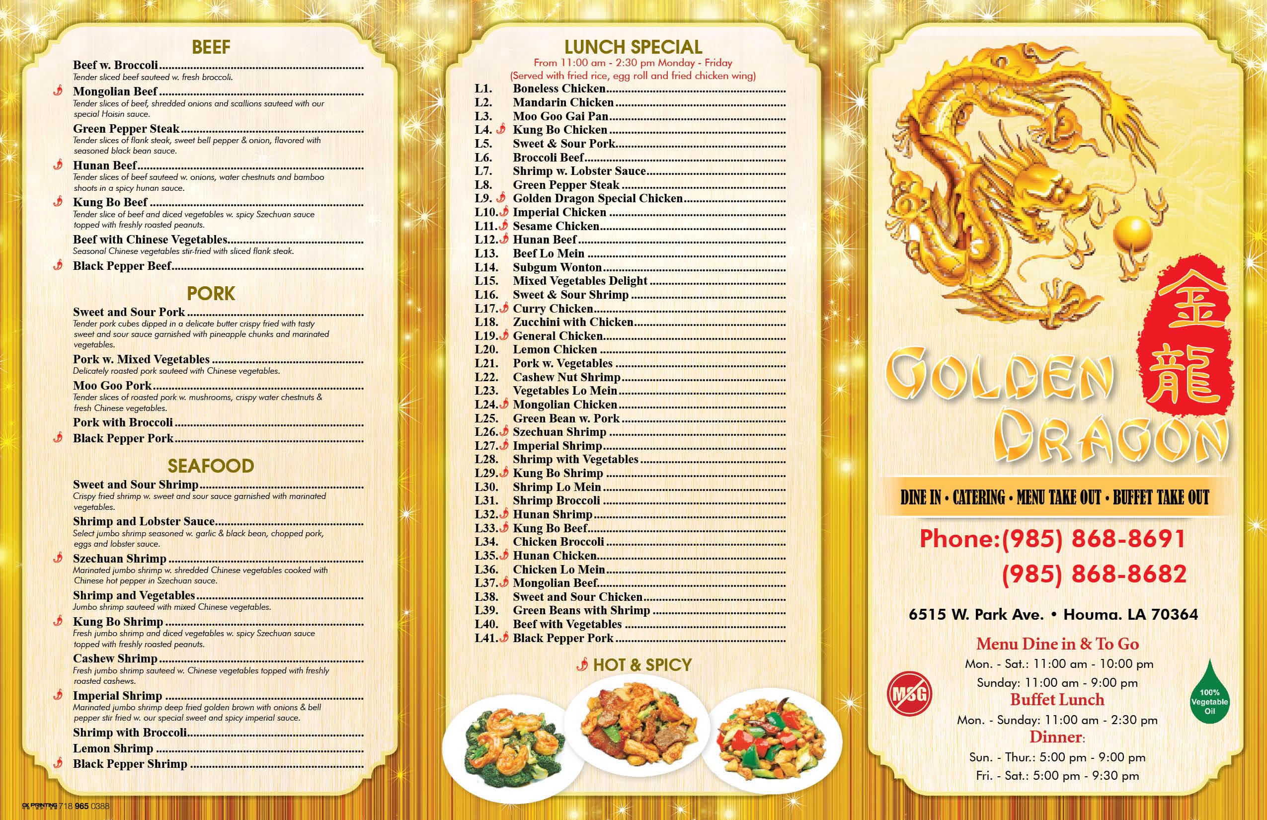 Golden Dragon Restaurant Menu Norfolk Va